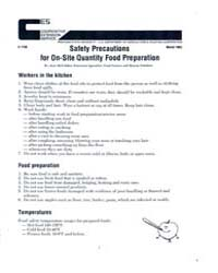 Safety Precautions for On-site Quantity ... by Jean McFadden