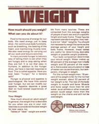 Weght, How Much Should You Weigh, 1990, ... by Michigan State University