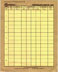 Personauzed Exercise Card, Document E171... by Michigan State University