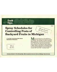 Spray Schedules for Controlling Pests of... by J. Lee Taylor