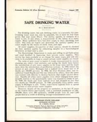 Safe Drinking Water, Document E173Rev1 by W. L. Mallmann