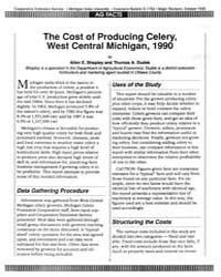 The Cost of Producing Celery,, Document ... by Shapley, Allen E.