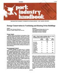 Energy Conservation in Ventilating and H... by Robert L. Fehr