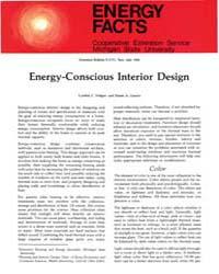Energy-conscious Interior Design, Docume... by Cynthia C. Fridgen