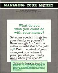 Managing Your Money, Document E1778-1991 by Field, Anne