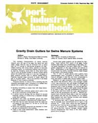 Gravity Drain Gutters for Swine Manure S... by Daniel J. Meyer
