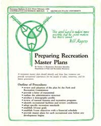 Preparing Recreation Masteer Plans, Docu... by Gaylan A. Rasmussen