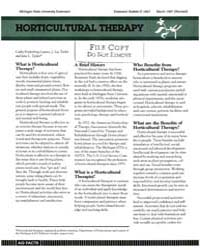 Horticultural Therapy, Document E1847-19... by Cathy Fredenburg