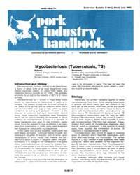 Mycobacteriosis Tuberculosis, Tb, Docume... by J. Glenn Songer