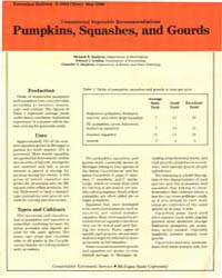 Pumpkins, Squashes and Gourds, Document ... by Zandstra, Bernard H.