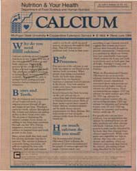 Calcium, Document E1954-1986 by Judith V. Anderson, Dr.