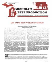 Use of the Beef Production Manual, Docum... by Harlan D. Ritchie