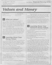Values and Money, Document E1963-1986 by Irene Hathaway