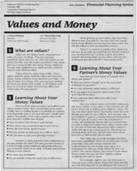 Values and Money, Document E1963-1988 by Irene Hathaway