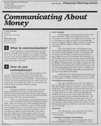 Communicating About Money, Document E196... by Irene Hathaway