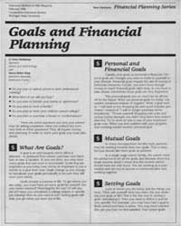 Goals and Financial Planning, Document E... by Irene Hathaway