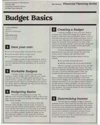 Budget Basics, Document E1966-1988 by Irene Hathaway