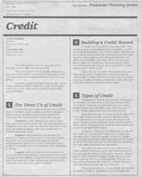 Credit, Document E1967-1986 by Irene Hathaway