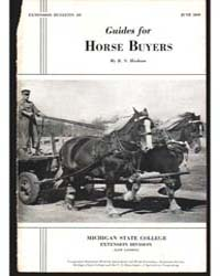 Guides for Horse Buyers, Document E197 by Hudson, R.S.