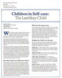 Children in Self-care : the Latchkey Chi... by Jeanne E. Brown