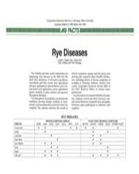 Rye Diseases, Document E1980-1986 by L. Patrick Hart