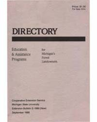 Directory, Eduction & Assistance Program... by Michigan State University