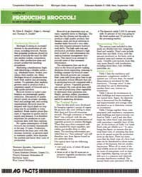 Cost of Producing Broccoli in Werstern M... by Shapley, Allen E.