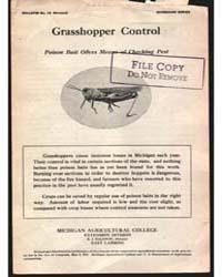 Grasshopper Control, Poison Bait Offers ... by Baldwin, R. J.