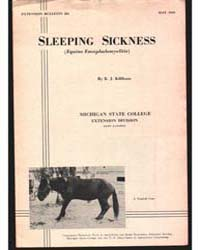 Sleeping Sickness, Document E201 by Killham, B. J.