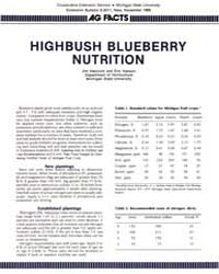 As Facts Highbush Blueberry Nutrition, D... by Hancock, Jim