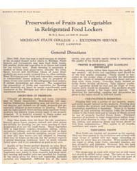 Preservation of Fruits and Vegetables, D... by Seaton, H.L.