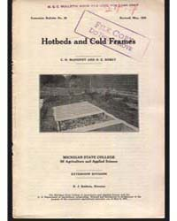 Hotbeds and Cold Frames, Document E20Rev... by Baldwin, R. J.