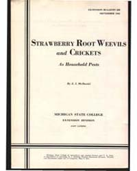 Strawberry Root Weevils and Crickets as ... by E. I. McDaniel
