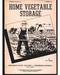 Home Vegetable Storage, Document E232 by H. L. Seaton