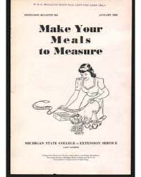 Make Youre Meals to Measure, Document E2... by Michigan State University