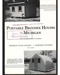Portable Brooder Houses for Michigan, Do... by C. H. Jefferson