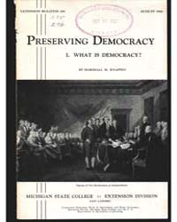 Preserving Democracy, Document E240 by Marshall M. Knappen