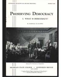 Preserving Democracy, Document E240Print... by Marshall M. Knappen