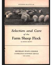 Selection and Care of the Farm Sheep Flo... by George Brown