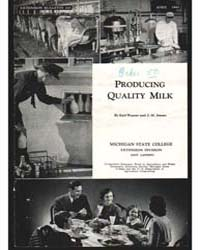 Producing Quality Milk, Document E245 by Earl Weaver