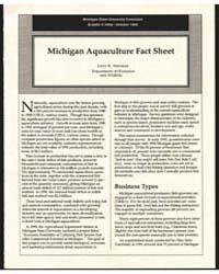 Michigan Aquaculture Fact Sheet, Documen... by Joyce R. Newman