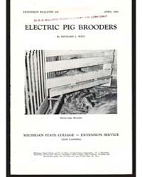 Electric Pig Brooders, Document E250 by Richard L. Witz