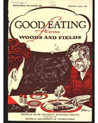 Good Eating from Woods and Fields, Docum... by Michigan State University