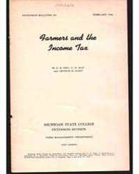 Farmer and the Income Tax, Document E257 by E. B. Hill