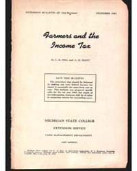 Farmer and the Income Tax, Document E257... by E. B. Hill