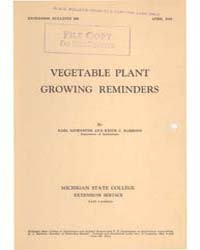 Vegetable Plant Growing Reminders, Docum... by Earl Bjornseth