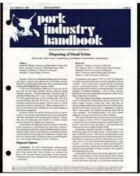 Pork Industry Handbook, Document E2619 by Dennis W. Murphy
