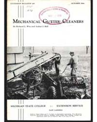 Mechanical Gutter Cleaners, Document E26... by Richard L. Witz