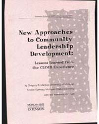 New Approaches to Community Leadership D... by Gregory B. Markus