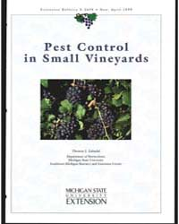 Pest Control in Small Vineyards, Documen... by Thomas J. Zabadal